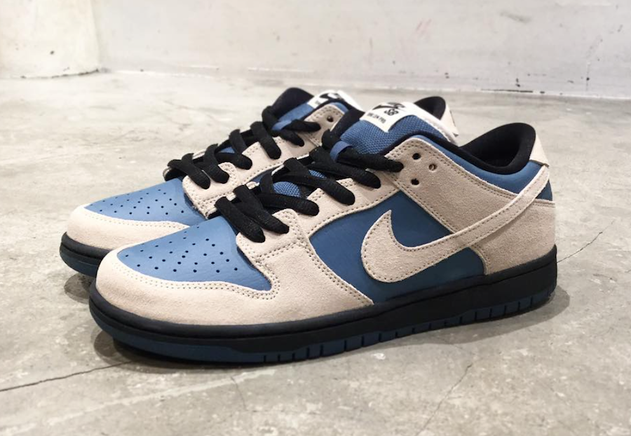 eed5612639b Cream and Blue Nike Dunk Low SB to release