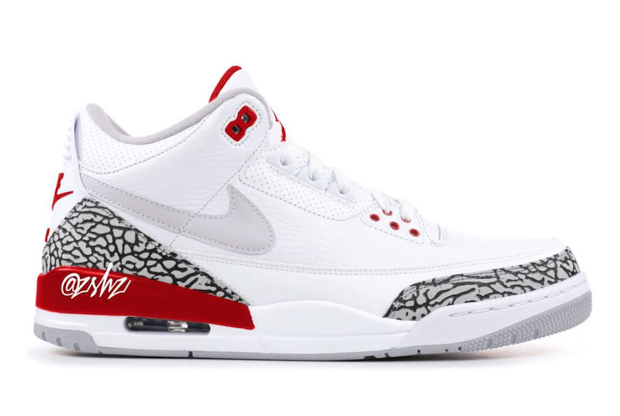 "8068bfea5d4 ""Tinker"" Air Jordan 3 to come in White University Red"