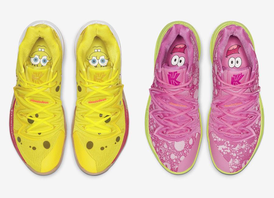 spongebob kyrie 5s release date