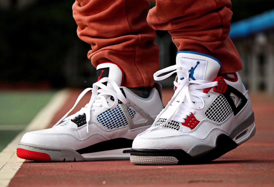 Air Jordan 4 on feet   Sneaker Shop